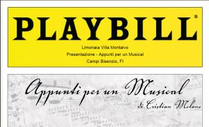 Appunti per un Musical prima esecuzione 21 Luglio 2016